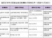 """汕尾市新冠病毒核酸、抗体检测""""愿检尽检""""检测服务点名单"""