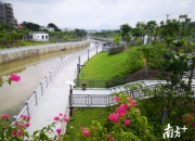 陆河螺河东岸亲水带状公园开放