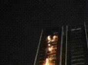 海丰在建楼盘时代水岸发生火灾 系外墙广告牌电气线路故障引发