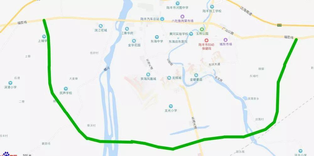陆丰G324国道新建穿城段将于明天正式开通 陆丰 第1张