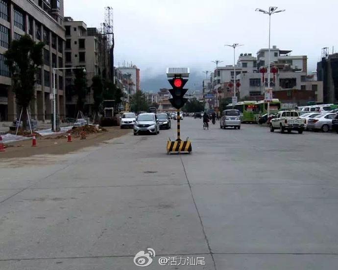 陆河县城新增5个太阳能红绿灯 陆河新闻 第3张