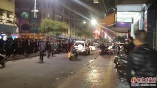 汕尾大马路发生了一起多人持械斗殴事件砸烂一店铺 汕尾新闻 第3张