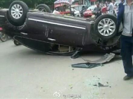 海丰公平镇下午发生两宗车祸 海丰新闻 第1张