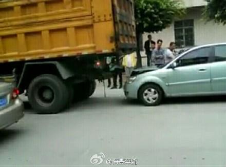 海丰公平镇下午发生两宗车祸 海丰新闻 第3张