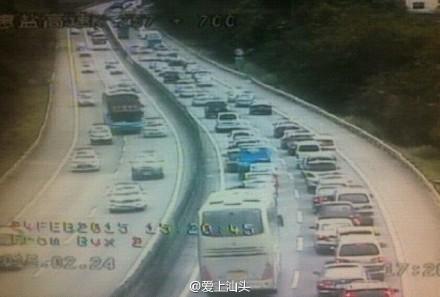 沈海高速(深汕高速)东往西汕尾路段严重拥堵 汕尾新闻 第2张