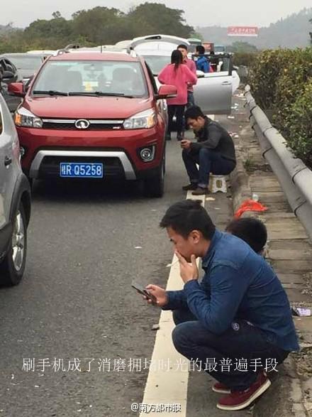 沈海高速(深汕高速)东往西汕尾路段严重拥堵 汕尾新闻 第1张