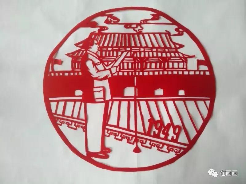 陆丰市湖东中学一女老师代领学生将中国历史做成剪纸 陆丰新闻 第2张