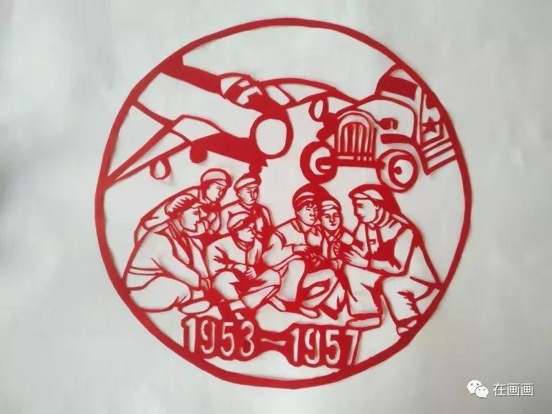 陆丰市湖东中学一女老师代领学生将中国历史做成剪纸 陆丰新闻 第5张