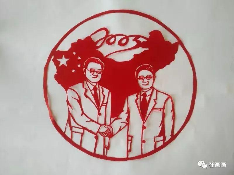 陆丰市湖东中学一女老师代领学生将中国历史做成剪纸 陆丰新闻 第10张