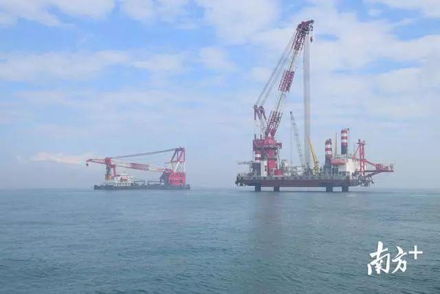 汕尾海上风电项目在陆丰湖东镇打下第一桩 陆丰新闻 第3张