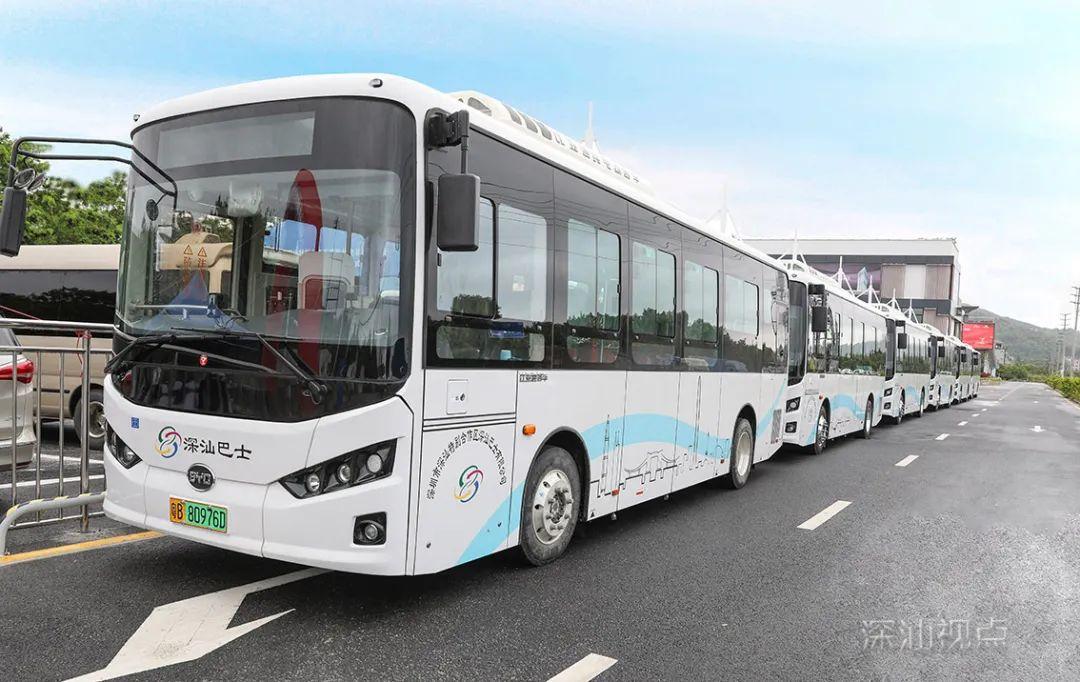 深汕区纯电动巴士投入运营 首批8条线路公布 深汕合作区新闻 第1张