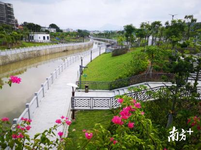 陆河螺河东岸亲水带状公园开放 陆河新闻 第1张